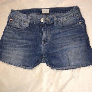 {Hudson} cut off shorts light wash mid rise